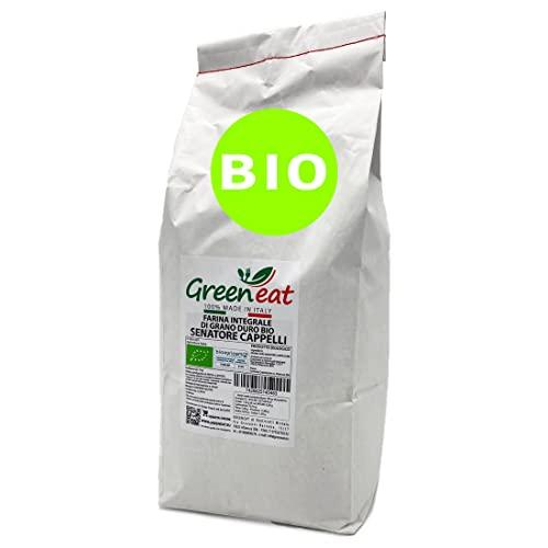 farina integrale biologica di grano duro antico varietà Senatore Cappelli (confezione da 5 kg)