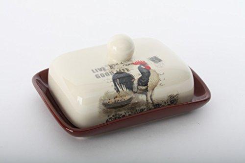 AVENUELAFAYETTE Beurrier Coq en céramique - Ferme - Campagne