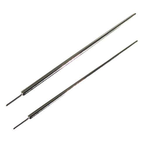 NewkeepsR 2PCS-18G/16G Implant Grade Titanium Pin Insertion Taper for Threadless Labret Bar(1.0mm/1.2mm)
