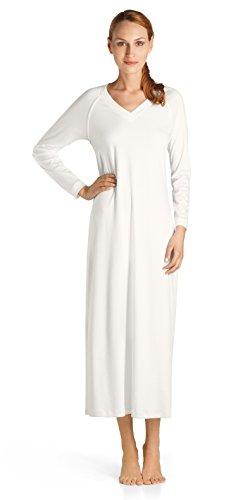 HANRO Damen Nachthemd Pure Essence, Elfenbein (Off White 0102), 38-40 (Herstellergröße: S)