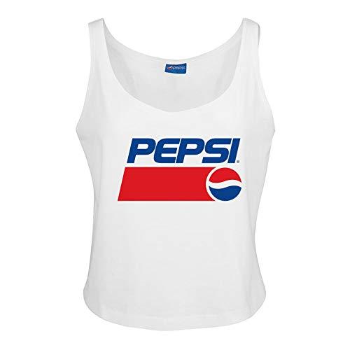 Pepsi Damen 1991 Vest Top T-Shirt, Weiß (Weiß Weiß), 38