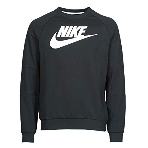 Nike Felpa da Uomo Modern CRW Flece, Uomo, Maglia di Tuta, CU4473, Nero/Bianco, L