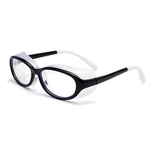 LianSan Kids Soft Safety Glasses Anti-Saliva UV410 Protection HD Blue Light Blocking Goggles for Boys Girls Black