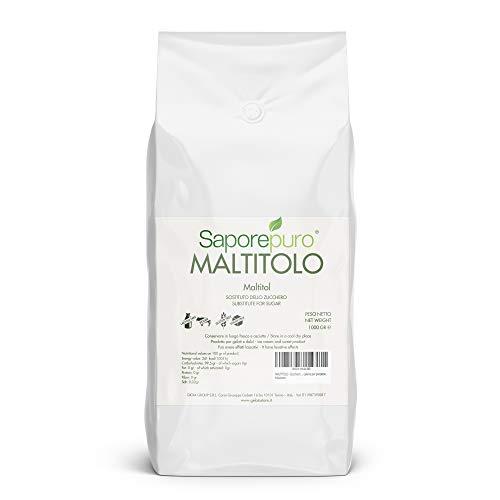 MALTITOLO - Zucchero alternativo a basso indice glicemico - 1Kg - Poche calorie per porzione