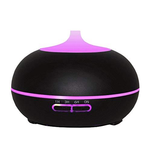 LuxTai etherische oliediffuser, 300 ml, ultrasone aroma-oliediffuser met instelbare mistmodus, waterloos, automatische uitschakeling, luchtbevochtiger en ledlampen met 4 wisselende kleuren