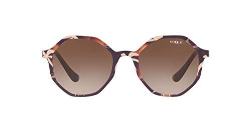 Vogue 0VO5222S Gafas de sol, Top Havana/Text Beige Brown, 52 para Mujer
