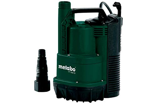 Metabo Klarwasser-Tauchpumpe TP 7500 SI (0250750013) Karton, Nennaufnahmeleistung: 300 W, Max. Fördermenge: 7500 l/h, Max. Förderhöhe: 6.5 m