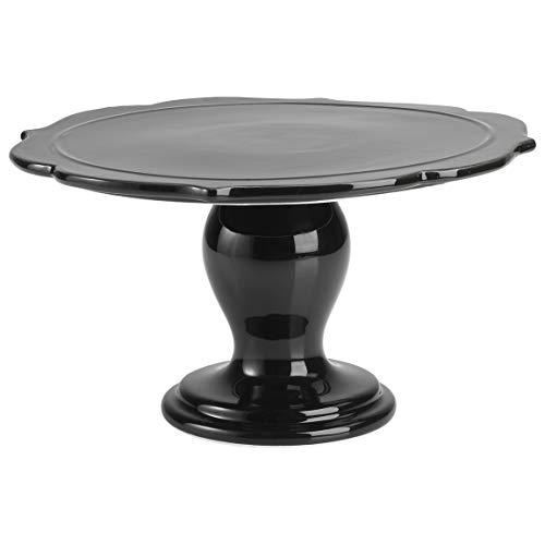 RBV Birkmann, 443747 Avantgarde Plat à gâteau en céramique Noir brillant Ø 25,5 cm
