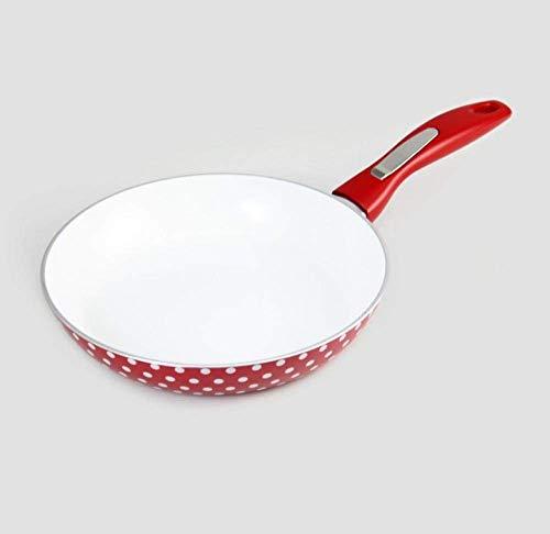 BANANAJOY Sartén Leche Pan cerámica doméstica Sin Grasa de humo antiadherente for freír cacerola -20cm
