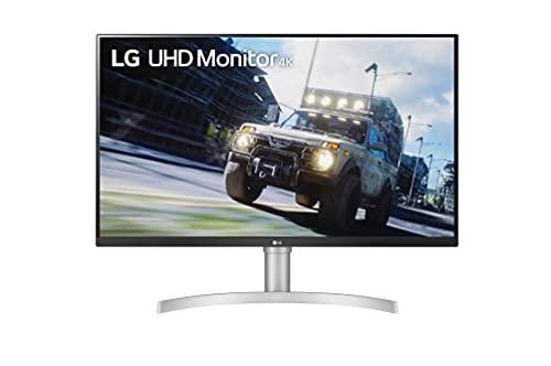 LG 32UN550-W 80 cm (31,5 Zoll) UHD 4K Monitor (HDR10, AMD FreeSync, MAXXAUDIO), Silber weiß