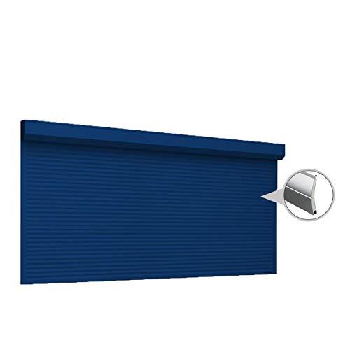 Puerta enrollable con Optokit + emisor manual, ancho 2700 mm, altura 3300 mm, color azul