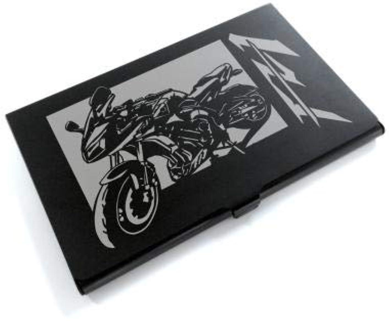アプライアンス透過性ブラウンブラックアルマイト「ヤマハ(YAMAHA) FZ-1」切り絵デザインのカードケース