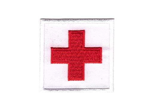 Titan One Europe Red Cross Nurse Cosplay Costume Halloween Medic Patch Cruz Médico Rojo Logo Parche Bordado Termoadhesivo
