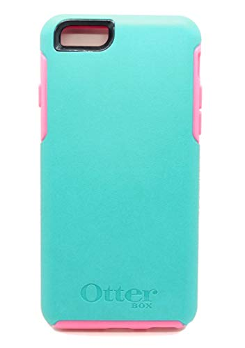 OtterBox Symmetry Series Case for iPhone 6 / iPhone 6s - Retail Packaging - Teal Rose II (Light Teal/Blaze Pink)