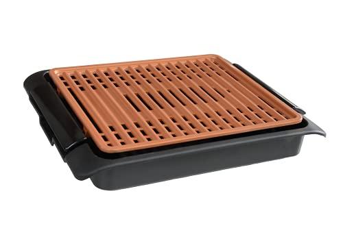 barbecue elettrico de longhi BEST DIRECT Starlyf Smokefree Grill Original Come Visto alla TV Griglia No Fumo Carne Pesce e Verdure Grigliate Cucina Barbecue (Griglia Elettrica Rame) 1250W