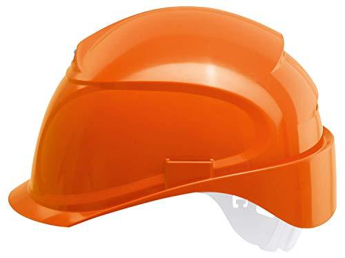 Uvex Airwing B-S Schutzhelm - Belüfteter Arbeitshelm für die Baustelle - Orange Orange