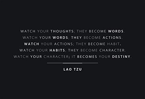 Lao Tzu Watch Your Thoughts - Motivational Poster - 13x19 Unframed - Perfect Gift Under $20