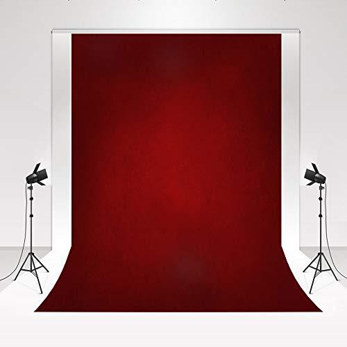 Kate Canvas Fondos de fotografía Negro Rojo Degradado 1.5x2.2m/5x7ft Textura Vintage Fondo de Estudio fotográfico Fondo de Retrato Plegable Video de Fondo Color de Fondo de fotografía de bebé Suave