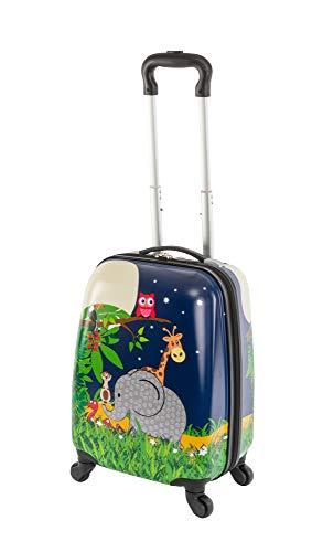 Travelhouse Happy Childreen - Trolley per bambini, in diverse misure e colori, elefante (Multicolore) - TRAVELHOUSE-D7-S