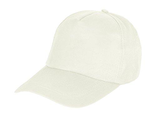 Alsino Baseball Cap Herren Damen Basecap Mütze Jungen Casual Kappe Freizeit Unisex, Variante wählen:CAP-155 Creme weiß