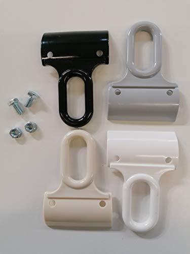 TENDAGGIMANIA Ricambi Ganci Occhielli per Tenda da Sole a Caduta in PVC ADATTABILI A Qualsiasi Profilo Varie colorazioni (Bianco)