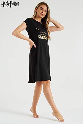 HARRY POTTER Pijama Mujer, Ropa Mujer 100% Algodon, Camison Mujer Verano de Manga Corta, Merchandising Oficial Regalos para Mujer y Adolescente Talla S - XL (XL)