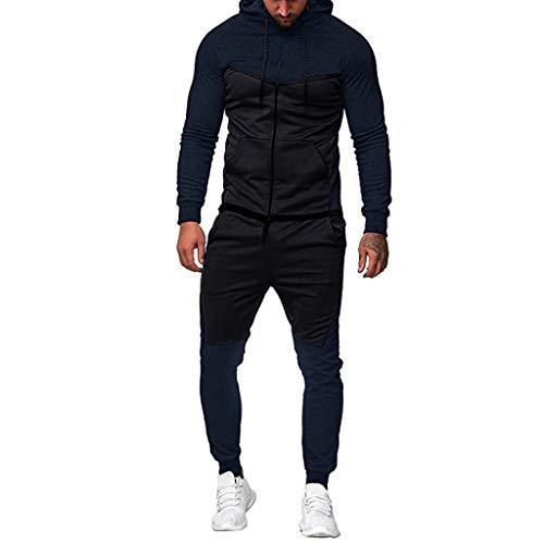 CLOOM Chándal Completo para Hombre Moda Slim Fit Otoño e Invierno Conjunto De Ropa Deportivo De Manga Larga Casual Sudadera con Capucha + Pantalones