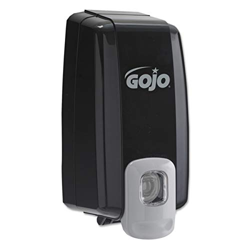 GOJO NXT SPACE SAVER Push-Style Lotion Soap Dispenser, Black, Dispenser for GOJO NXT 1000 mL Lotion Soap Refills - 2135-06