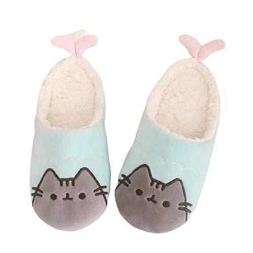 Mujer Invierno Zapatillas De Interior Y Exterior Estar por Casa para Zapatos Memory Algodón Invierno Antideslizante Pantuflas Cálidas Ultraligero Cómodo Felpa Suave Slippers,35~38