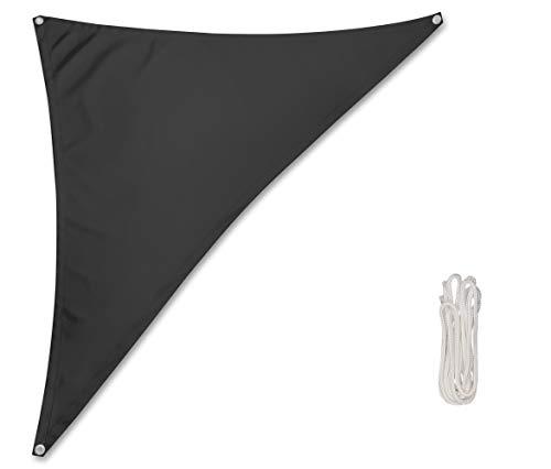 Rollmayer Sonnensegel Sonnenschutz, Terrasse & Garten & Balkon & Camping, Wetterschutz, windabweisend & wasserabweisend mit UV Schutz (Graphit, Dreieck 1.2x1.2x1.7m) Kollektion Oxford