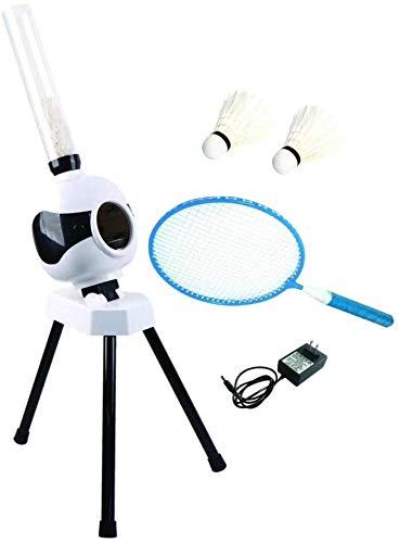 WMING Kinder Outdoor-Sport-Spielzeug Eltern-Kind-Interaktion Freizeit-Unterhaltung automatisches Badminton Training Ballmaschine Sportgeräte,Weiß