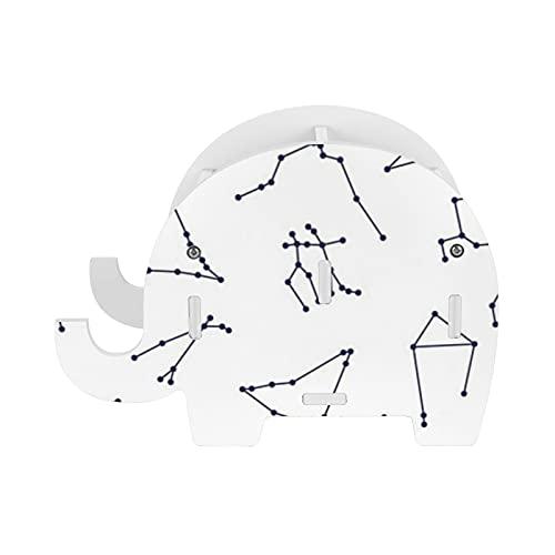 Soporte de lápiz de elefante estrella zodiak patrón soporte de almacenamiento Pot teléfono titular contenedor caja de papelería