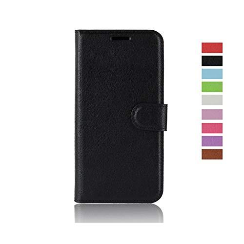 cookaR Huawei Y6S Handy Hülle Tasche Flip Hülle Kredit Karten Fach Geldklammer Leder Handy Schutzhülle Unsichtbar Magnet Verschluss Standfunktion,Schwarz