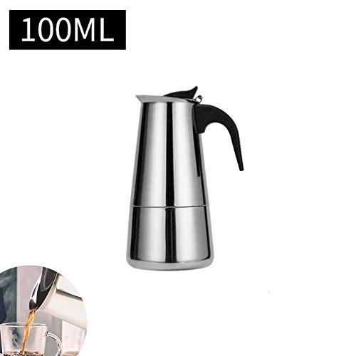 Espressokocher, 2–12 Tassen, Edelstahl, Perkolator, italienische Kaffeemaschine, Induktion, geeignet, edelstahl, Zylinder: gerade, 2-Cup 3.38oz/100mL