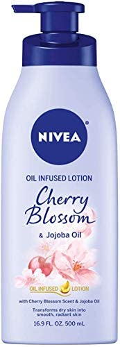NIVEA Oil Infused Body Lotion Cherry Blossom and Jojoba Oil 16 9 Fluid Ounce product image
