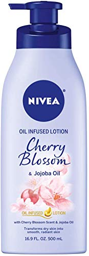 (50% OFF) NIVEA Oil Infused Body Lotion Cherry Blossom and Jojoba Oil, 16.9 Fluid Ounce $3.99 Deal