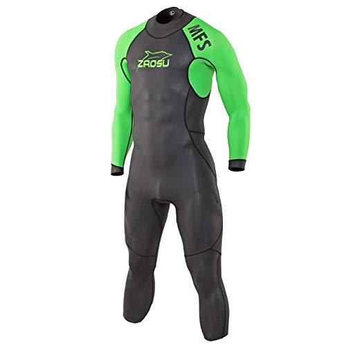 ZAOSU Herren MFS Neoprenanzug | Multifunktions Triathlon Wetsuit, Farbe:neongrün, Größe:L