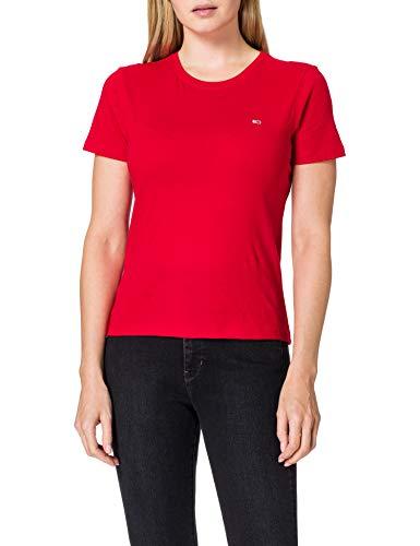 Tommy Jeans Tjw Soft Jersey tee Ropa Deportiva de Punto, Rojo (Deep Crimson Xnl), 38 (Talla del Fabricante: Medium) para Mujer
