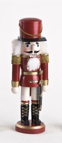 Dekohelden24 Nussknacker Soldat in rot klassisch, ca. 20 cm