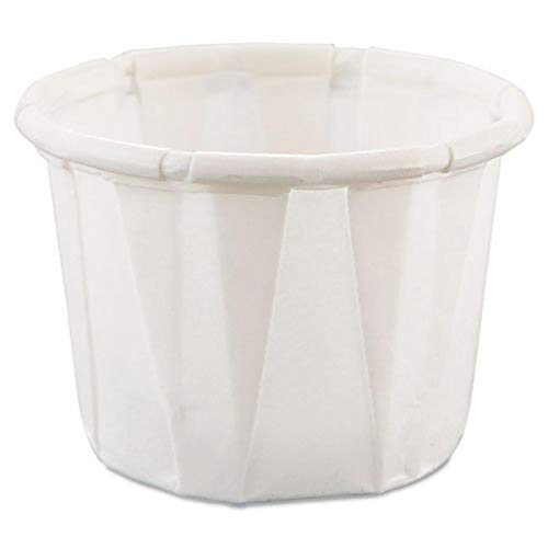 SOLO Cup Company Treated Paper Souffle Portion Cups, 1/2 oz, White, 250 per Bag, 20 Sleeves of 250 Cups, 5000 per Case