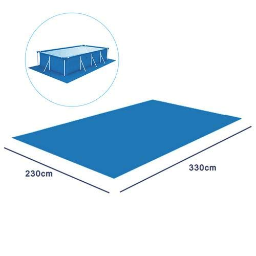 Schwimmbecken Matte Pool Grundtuch Bodenmatte Pool bodentuch Schwimmbadmatte Rechteckiger faltbarer Teppichboden Polyester Pool Grundtuchfür verschiedene aufblasbare Pools - 330X230CM