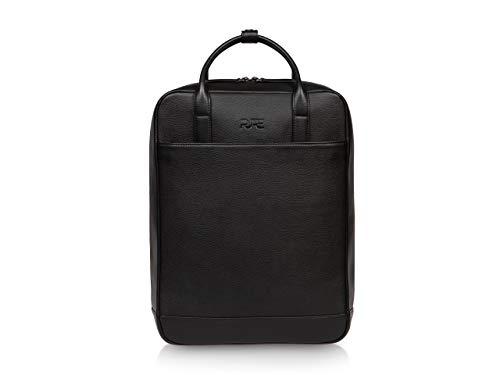PURE Leather Studio Mochila de cuero VEGA - Para mujer y hombre piel auténtica 16 L I Mochila para ordenador portátil hasta 16
