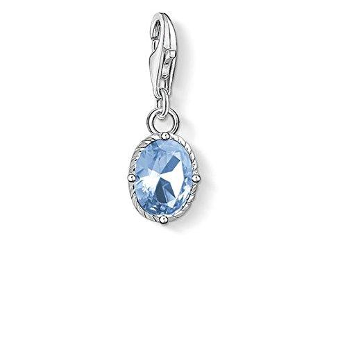 Thomas Sabo Damen-Anhänger blauer Stein 925 Sterling Silber 1670-009-1