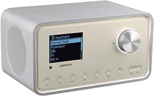 MEDION P85105 MD 87105 WLAN Internet-Radio, DAB+, UKW, WLAN, DLNA, UPNP, 2 x 10W RMS, USB-Anschluss, Champagner