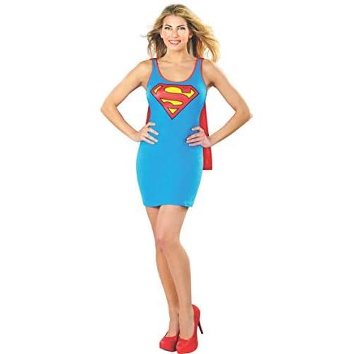 Rubie' s Ufficiale SuperGirl Tank Dress, Adulto Costume–Medium