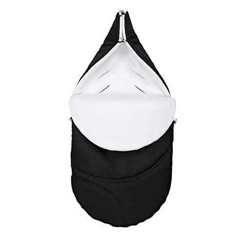 TupTam Saco de Abrigo para Carrito de Bebé Universal, Negro/Blanco