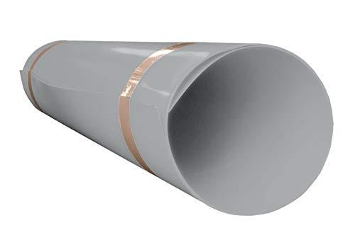 A+H Hart PVC Kunststoffplatte 2000x1000x1 mm mit einseitiger Schutzfolie - Farbe Hellgrau