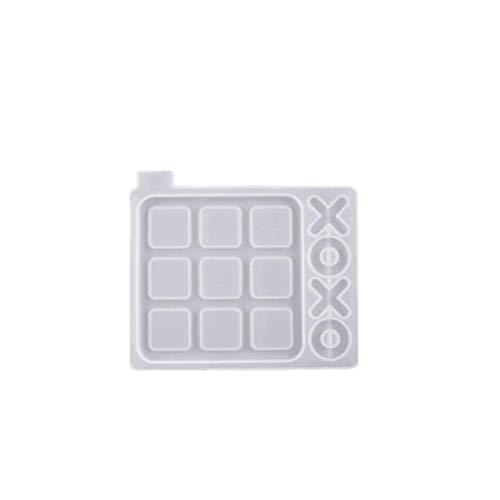 Lintat Silikonform 3D DIY Epoxidharz Spiegel Tic-Tac-Toe Schachspiel Formen Herstellung Werkzeug für Kinder