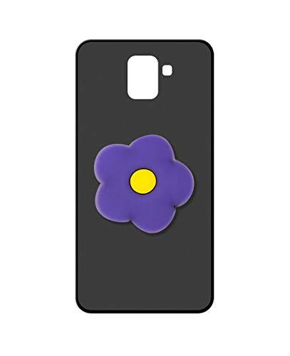 Sunrive Kompatibel mit Wiko U Feel Prime Hülle Silikon, Ständer Fingerhalter Fingerhalterung Handyhülle matt Schutzhülle Etui Hülle (Lila Blume) MEHRWEG