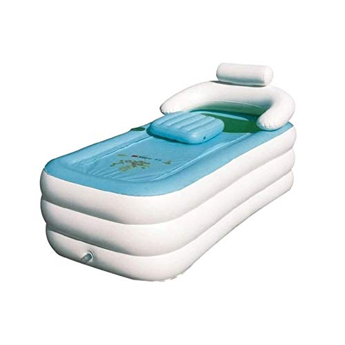 Sdesign Bañera Inflable PVC Plegable Adulto portátil portátil bañera de baño Soplo de baño de Aire PVC Antideslizante para baño Familiar